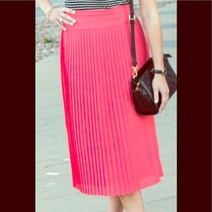 Jcrew pleated skirt size 16 new with tags!
